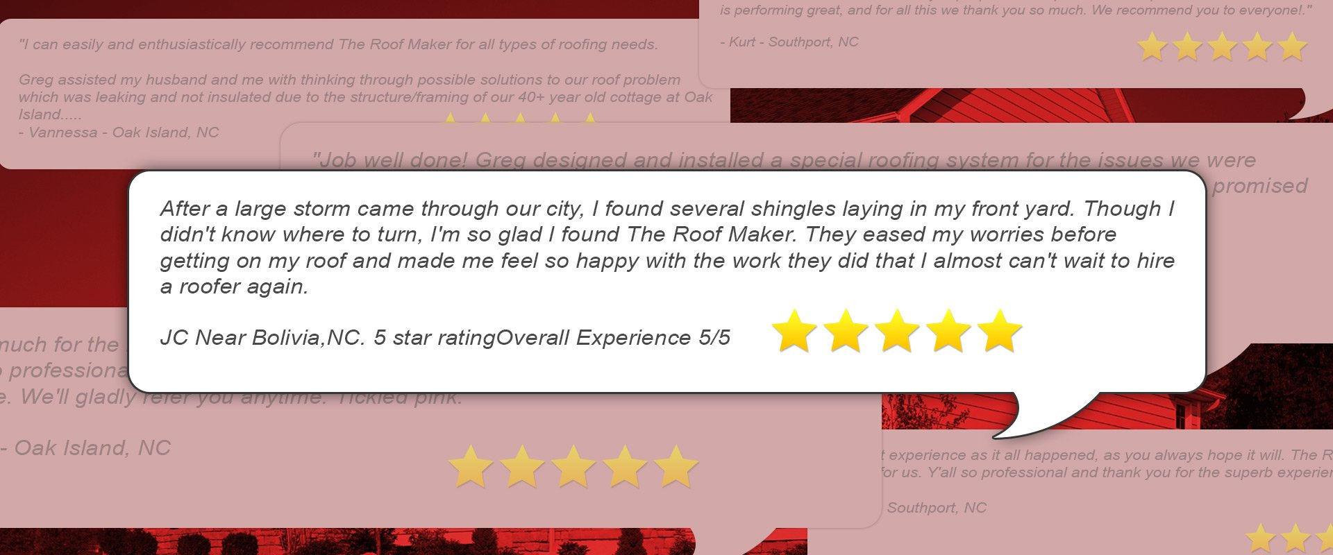 Roofing company testimonials